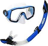 Deep Blue Gear Montego Diving Mask and Semi-Dry Snorkel Set, Adult, Blue