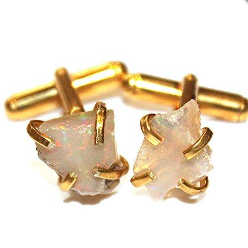 Gold Opal Cufflinks - 6