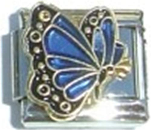 (Stylysh Charms Birthstone Coloured Butterfly Enamel 9mm Link )