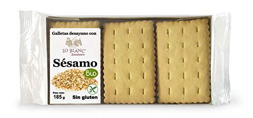 GALLETAS DESAYUNO DE SÉSAMO LO BLANC - Sin gluten - Sin leche, 185 g: Amazon.es: Alimentación y bebidas