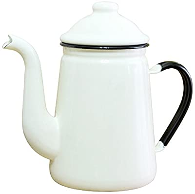 TOP mark enamel coffee pot # 13 Ivory FKC10131C (japan import)