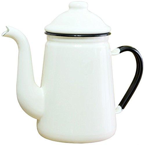 노다호로(Nodahoro) 노다법랑 법랑 기린 커피 포트 13cm 화이트 FKC10131C