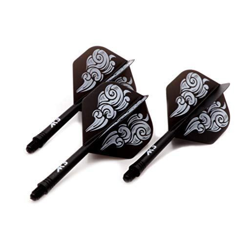 (Black Scorpion CUESOUL ROST Integrated Dart Shaft and Flights Standard Shape,Set of 3 pcs)
