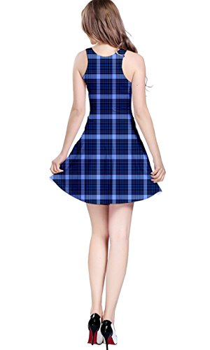 CowCow - Vestido - para mujer Blue and Black
