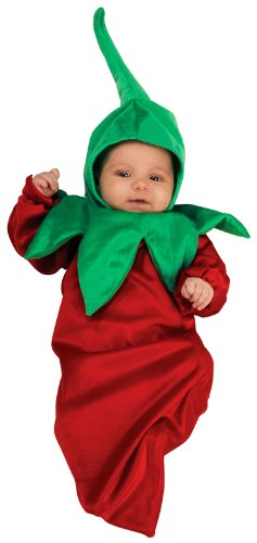 Rubie's Costume Deluxe Baby Bunting, Chili Pepper, 0-9 Months