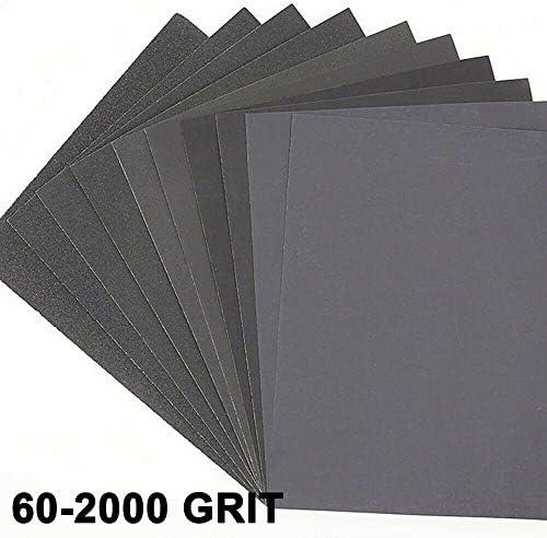 10 stuks schuurpapier voor het polijsten van metaal hout voor het gladmaken van carrosserien en polijsten 230 mm x 280 mm 602000 korrels 1200 Grains