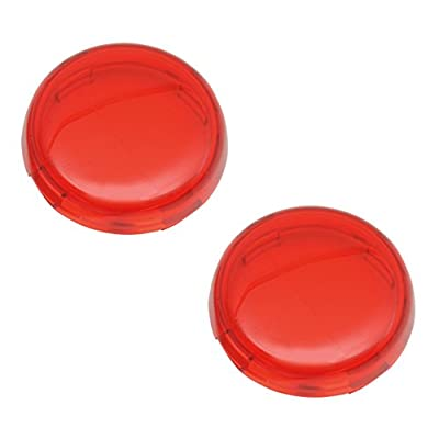 Chris Products DHD5R Deuce-Style Replacement RED Turn Signal Lens For Harley-Davidson 2-Pack: Automotive