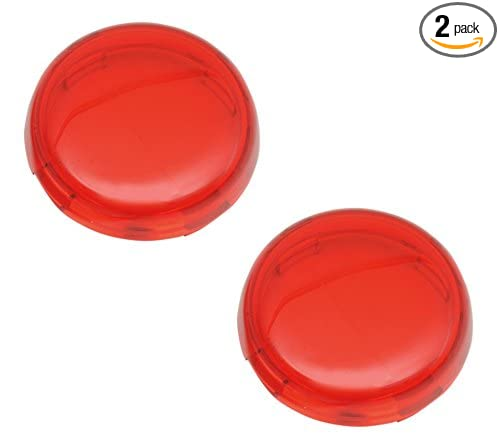 Chris Products DHD5R Deuce-Style Replacement RED Turn Signal Lens For Harley-Davidson 2-Pack