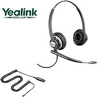 Yealink Compatible Plantronics EncorePro 720 HW720 Noise-Canceling VoIP Headset Bundle for Yealink IP Phones: SIP-T19P, SIP-T20P, SIP-T21P, SIP-T22P, SIP-T26P, SIP-T28P, SIP-T32G, SIP-T38G, SIP-T41P, SIP-T42G, SIP-T46G, SIP-T48G