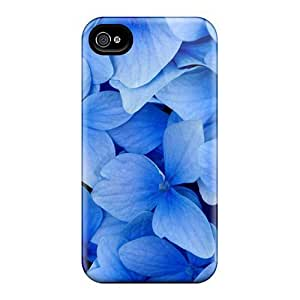 For Iphone 4/4s Protector Case International Womens Day Blue Flowers As A Gift On March Phone Cover