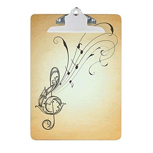 Clipboard Musician Treble Clef Music Notes (Board Treble)