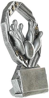 Bowler Award Bowling Hexa Star Trophy Engraved Plate Upon Request Silver and Gold 4.75 Inch Tall