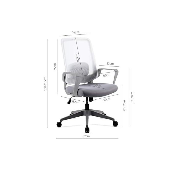 41E39Q0JVjL Respaldo ergonómico y cojín incluido Pistón de gas que permite regular la altura del asiento Fácil y sencillo montaje