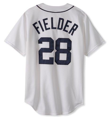 MLB Detroit Tigers Prince Fielder White Home Replica Baseball Jersey, White, X-Large (White Majestic Tigers Jersey)