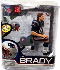 McFarlane Toys NFL Sports Picks Series 27 Action Figure Tom Brady (New England Patriots) Blue Jersey Long Hair