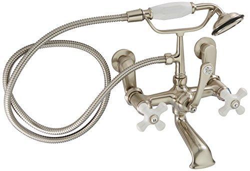 Kingston Brass CC59T8 Vintage Leg Tub Filler with Hand Shower, Satin ()