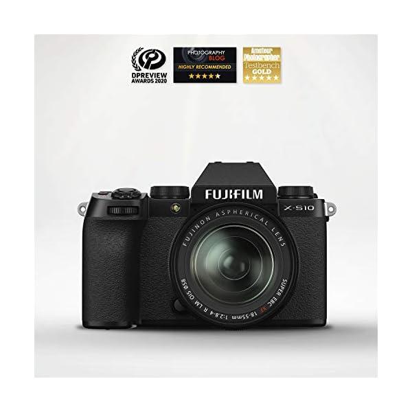 "RetinaPix Fujifilm X-S10 Mirrorless Camera Body with XF18-55mm Lens (APS-C X-Trans CMOS 4 Sensor, EVF, IBIS, 3"" Vari-Angle LCD Touchscreen, Face/Eye AF, 4K/30P & FHD/240P Video Vlogging, Film Simulation)-Black"