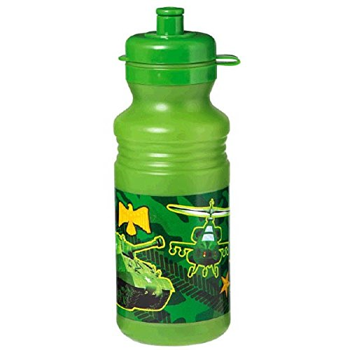amscan Adventurous Camouflage Bottle Birthday Party s Toy & Prize, Camouflage Green, 5 1/2
