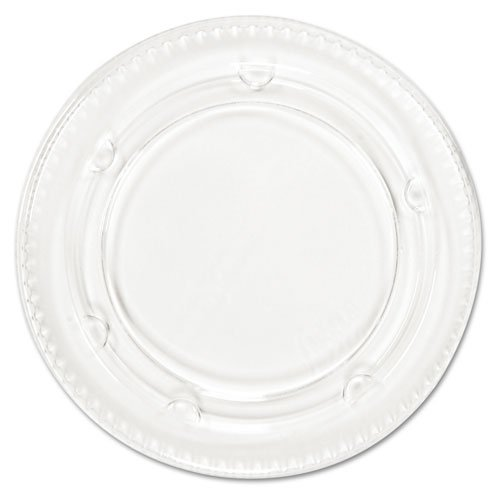 Boardwalk Portion Cup Lids, Fits 3.25-4oz Cups, Clear - Includes 20 sleeves of 120 lids each.