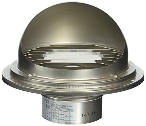 Noritz VT3-SH 3-Inch Hood Termination for Single Wall Stainless Steel Venting by Noritz