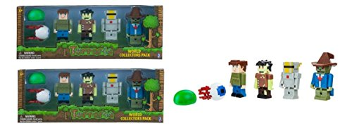 Terraria World Collector's 6 Packs Mini Figures Set x 2 Set (Silver Armor, Guide, Zombie, Time Demon Eye, Slime)