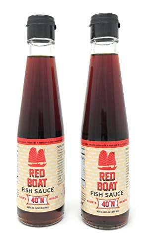 Price comparison product image Red Boat Fish Sauce 40° Nitrogen, 8.45 fl oz (Pack of 2)