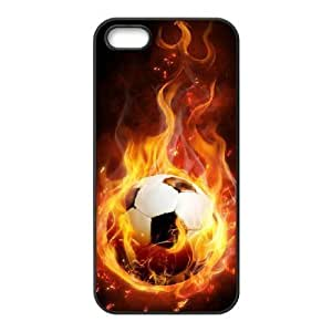 DIY Hard Back For HTC One M9 Phone Case Cover with Design Fire Football Soccer ball