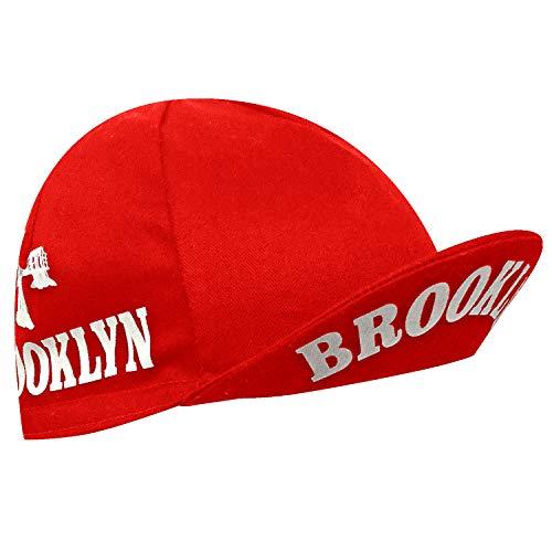 Brooklyn New York City Cycling Cap - Red