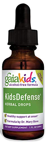 Gaia Herbs GaiaKids KidsDefense Herbal Drops, 1 Ounce - Supports Rapid Immune Response with Organic Echinacea and Ginger, Physician Formulated