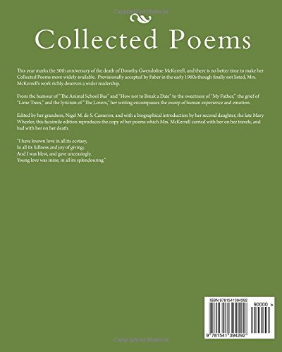 Collected Poems Of Dorothy Mckerrell Amazoncouk Dorothy