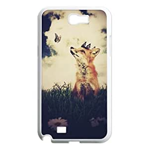 Custom Colorful Case for Samsung Galaxy Note 2 N7100, Vulpes vulpes Cover Case - HL-R675455