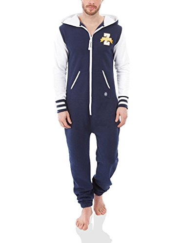 Mono Spirit Team Zipups Xl blanco pijama Azul Noche Thin Summer AxBaqf