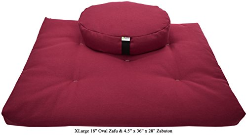 Zafu and Zabuton Meditation cushion Set, 100% Cotton or Hemp, Organic