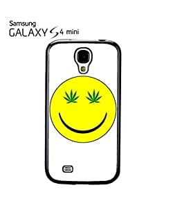 Weed Cannabis Smiley High Mobile Cell Phone Case Samsung Galaxy S4 Mini White