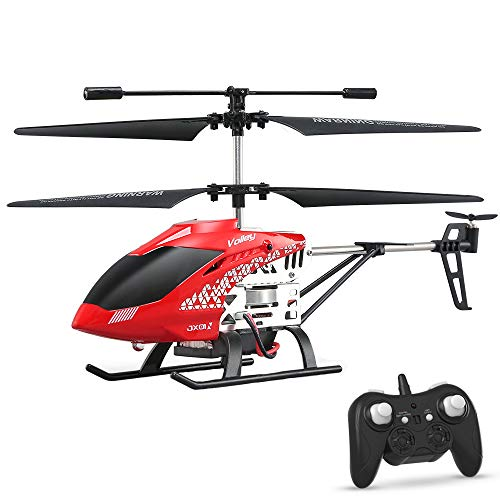 Altitude Hold RC Helicopter, Inkpot JX01 Helicopter 4 Channels Helicopter with 2Batteries, Gyro 2.4GHz and LED Light for Indoor RTF Crash Resistance Remote Control Helicopter RC Drone Toy Gift