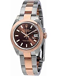 Lady Datejust Chocolate Dial Steel and 18K Everose Gold Oyster Watch 279161CHSO