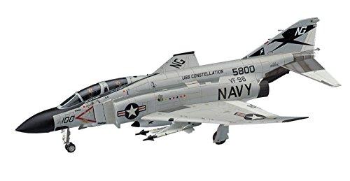 ハセガワ 1/48 アメリカ海軍 F-4J ファントムII w/ワンピースキャノピー プラモデル PT6
