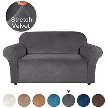 Amazon.com: Luxurious Real Velvet High Stretch Sofa Cover ...