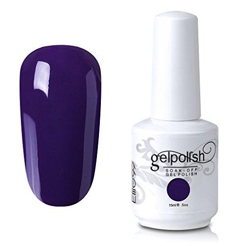 Elite99 Soak-Off UV LED Gel Polish Nail Art Manicure Lacquer Concord Grape 190 ()