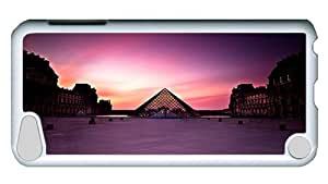 Rugged iPod Touch 5 Case, Pyramide Du Louvre Custom Design PC Hard Case for iPod Touch 5 White