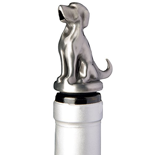 Stainless Steel Dog Wine Aerator Pourer - Deluxe Decanter Spout for Robust Red and White Wine - Pour Amore Bottle Pourer/Stopper & Air Diffuser by Chris's Stuff by Chris's Stuff
