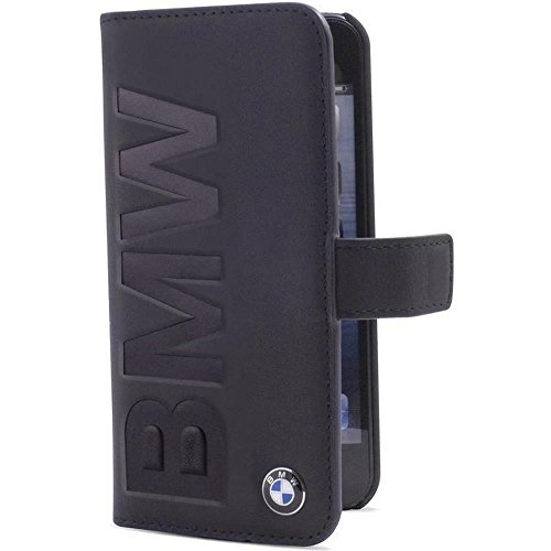 BMW Signature Collection Book Case Debossed Logo for iPhone 5/5S/SE - Black