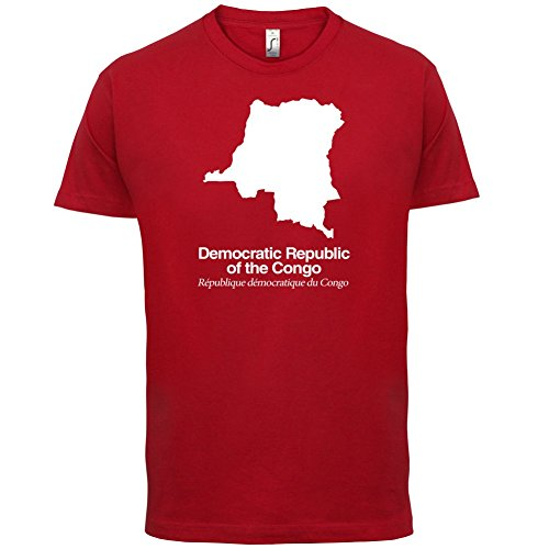 Democratic Republic of the Congo / Demokratische Republik Kongo Silhouette - Herren T-Shirt - Rot - XXL