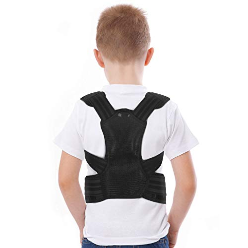Posture Corrector for Kids, Upper Back Brace Adjustable Back Straighter with Shoulder Pads for Teenagers to Provide Spinal Support, Improve Posture and Prevent Slouching(M)