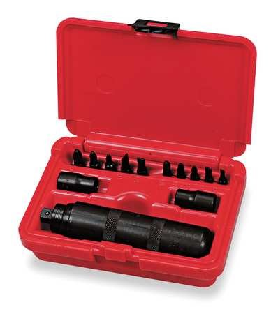 Impact Driver and Bit Set, 3/8In Dr, 13 -