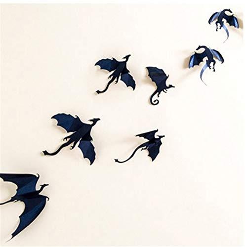 Gutyan Etiqueta de La Pared 3D Dragón Gótico Tatuajes de Pared Juego de Tronos Inspirado Dragón Wallpaper 7 unids/Lote…