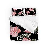 GUYUEXING Bedding Set Daybed Bedding Sets Duvet Cover Set Zipper Closure Flamingo