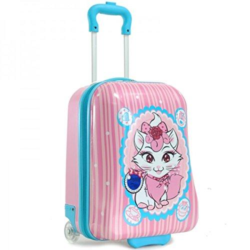 - MADISSON-Valigia trolley da cabina MADISSON per bambini, motivo: gattino, colore: Rosa