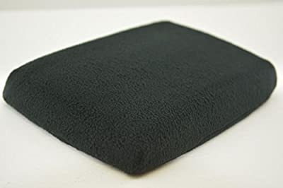 Fits 05-10 JEEP GRAND CHEROKEE Slide-On FABRIC Console Lid Armrest Cover BLACK (CLOTH).