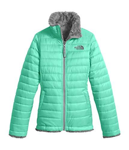 The North Face Kids Girl's Reversible Mossbud Swirl Jacket (Little Kids/Big Kids) Bermuda Green/Metallic Silver (Prior Season) Large ()